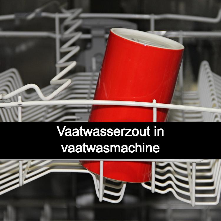 Vaatwasserzout in vaatwasmachine